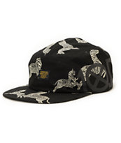 10 Deep Ironsides Navigator Zebra 5 Panel Hat