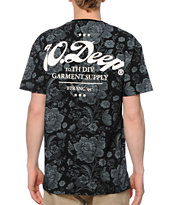 10 Deep New Standard Black Floral T-Shirt