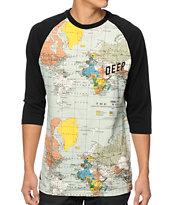 10 Deep Slope White Baseball T-Shirt