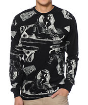 10 Deep Tombs Black Long Sleeve Shirt