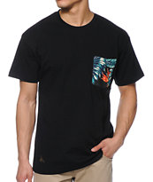 10 Deep Tribes Black Pocket Tee Shirt