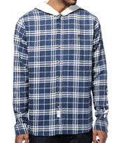 10 Deep Work Hooded Flannel Shirt