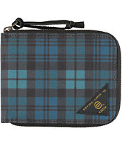 10 Division Blu Plaid Zipper Bifold Wallet