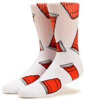40's & Shorties Red Cups Crew Socks
