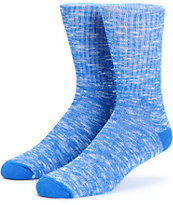 40s & Shorties Blue Speckle Crew Socks