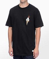 40s & Shorties Ice Cream Black T-Shirt