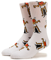 40s & Shorties Twerk White Crew Socks