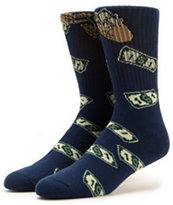 40s and Shorties Make It Rain Crew Socks