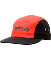 5Boro Sport Red & Black 5 Panel Hat