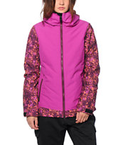686 Authentic Rhythm Plum Floral Camo 10K Snowboard Jacket