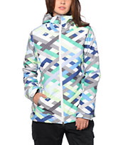 686 Authentic Rhythm Seafoam Ribbons 10K Snowboard Jacket