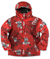 686 Boys Mannual Chipped Red 5K 2014 Snowboard Jacket