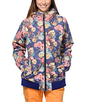686 Mannual Cheer Iris Floral 8K 2014 Girls Snowboard Jacket