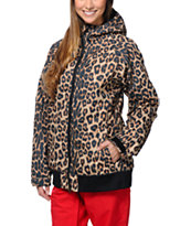 686 Mannual Cheer Leopard 8K 2014 Girls Snowboard Jacket