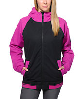 686 Mannual Cheer Pink & Black 8K 2014 Women's Snowboard Jacket