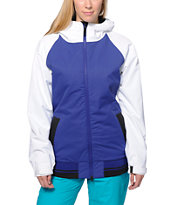 686 Mannual Cheer Purple & White 8K 2014 Women's Snowboard Jacket