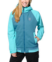 686 Mannual Cheer Turquoise & Teal 8K Girls Snowboard Jacket 2014