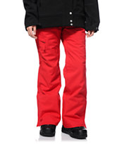 686 Mannual Patron Red 10K Women's 2014 Snowboard Pants