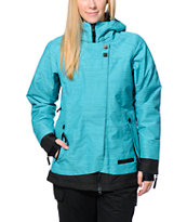 686 Reserved Avalon Turquoise 10K Women's 2014 Snowboard Jacket