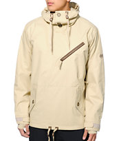 686 Reserved Getty Khaki 10K 2014 Pullover Snowboard Jacket