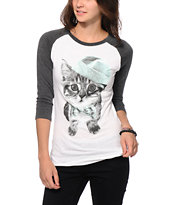 A-Lab Accessorize Me Cat Baseball T-Shirt