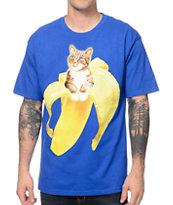 A-Lab Banazaz Cat Blue Tee Shirt