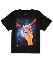 A-Lab Boys Cat-A-Cone Black Tee Shirt