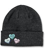 A-Lab Cameron Hearts Charcoal Beanie