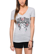 A-Lab Cat Dressed V-Neck Tee