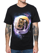 A-Lab Cat Galaxy Black Tee Shirt