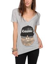 A-Lab Compton Cat V-Neck T-Shirt