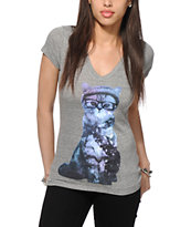 A-Lab Cosmic Cat V-Neck T-Shirt