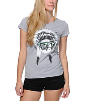 A-Lab Girls Chief Meowsalot Grey Tee Shirt