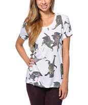 A-Lab Girls Laser Cat White Tee Shirt