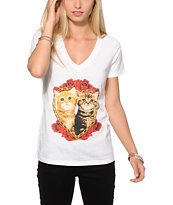 A-Lab Glitter Kittens V-Neck T-Shirt