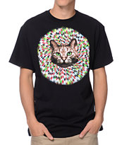 A-Lab Hypno Cat Black Tee Shirt