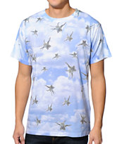 A-Lab It's Raining Cats Sublimated White Tee Shirt
