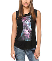 A-Lab Lauryn Cosmic Cat Muscle Tee
