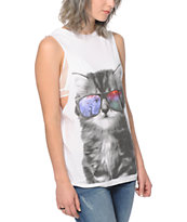 A-Lab Lauryn Galaxy Eyes Cat Muscle Tee