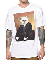 A-Lab Livin Fat Cat White Tee Shirt