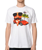 A-Lab Magnum PIzza White Tee Shirt