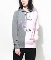 A-Lab Marlen Space Alien Split Grey & Pink Hoodie
