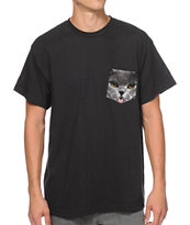 A-Lab Pockat Black Pocket Tee Shirt