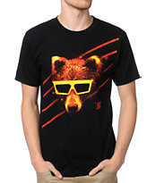 A-Lab Space Bear Black Tee Shirt