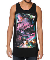 A-Lab Time Travelers Black Tank Top