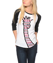 A-Lab Tribal Necking Baseball Tee