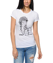 A-Lab Tribe Kitty White UV Ink Tee Shirt