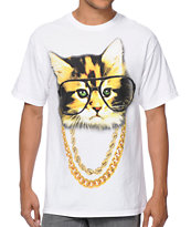 A-Lab Two Meowz White T-Shirt