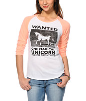 A-Lab Wanted Unicorn Baseball T-Shirt