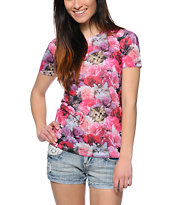 A-Lab Women's Tater Kitten Roses Sublimated Tee Shirt